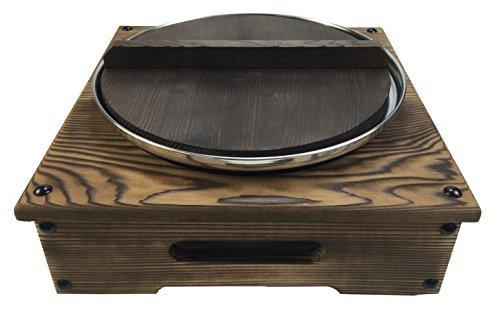 ヤマコー 21306 電調木枠鍋セット (大) 4~5人用(蓋・台・鍋) 16-050-01【smtb-s】