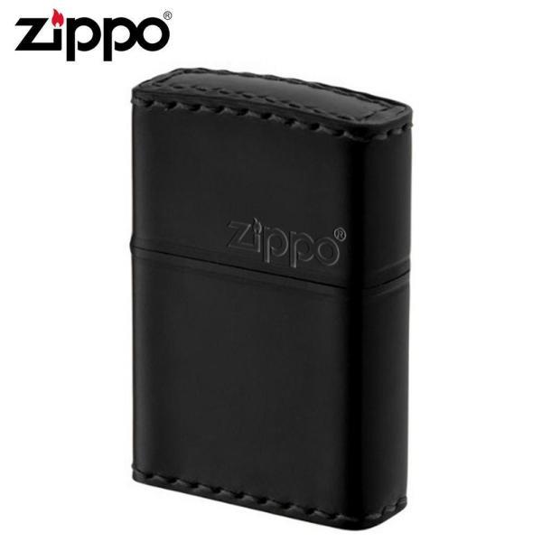 ZIPPO(ジッポー) オイルライター CB-5革巻き 横ロゴ コードバン ブラック (1096478)【smtb-s】