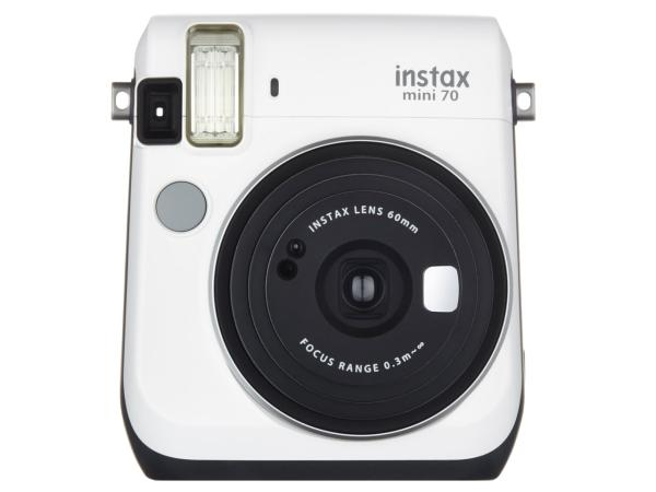 富士フイルム INSMINI70NWHITE インスタントカメラ 『チェキ』 instax mini 70N ホワイト【smtb-s】
