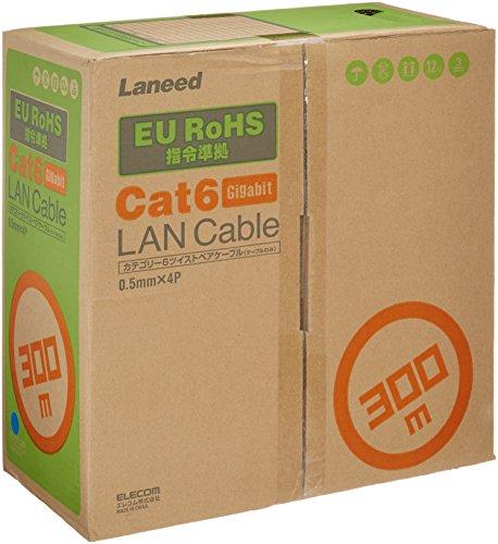 エレコム ELECOM LANケーブル CAT6 RoHS指令準拠 300m(リール巻)ブルー LD-CT6 BU300 RS【smtb-s】