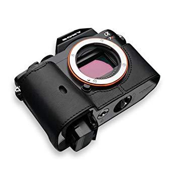 GARIZ XSCHA7BK 本革カメラケース 【ソニー α7R/α7兼用】(ブラック) XS-CHA7BK【smtb-s】