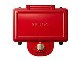イデアインターナショナル BRUNO ブルーノ ホットサンドメーカー ダブル BOE044-RD プレート取り外し可能 2枚焼き【smtb-s】