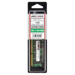 アーキサイト AS-2400D4N-16G-MJ PC4-19200 (DDR4-2400) 16GB 260pin SO-DIMM(AS-2400D4N-16G-MJ)【smtb-s】