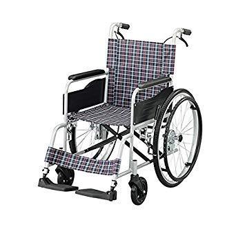 アズワン 車椅子(アルミタイプ)介助ブレーキあり7-4328-02【smtb-s】