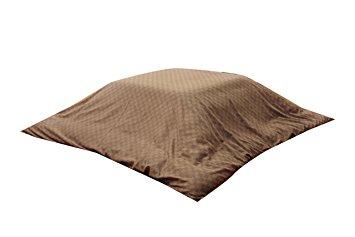 送料無料 イケヒコ コーポレーション 新色 インド綿100% 格子柄 ギフ_包装 ブラウン 約215×255cm こたつ布団カバー クレタ
