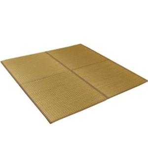 カウモール 純国産 ユニット畳 『右京』 ベージュ 82×82×2.5cm(6枚1セット)【smtb-s】