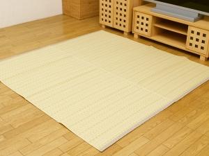 イケヒコ・コーポレーション 洗えるPPカーペット 『バルカン』 ベージュ 本間8畳(382×382cm)【smtb-s】