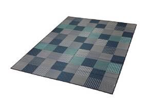 イケヒコ・コーポレーション 純国産 袋織い草ラグカーペット 『京刺子』 ブルー 約191×250cm 1706880【smtb-s】