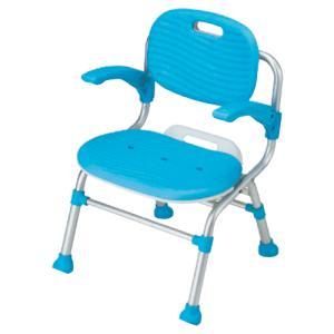 幸和製作所 テイコブ シャワーチェア 折り畳み 背・肘掛け付タイプ / SC01 ブルー【smtb-s】