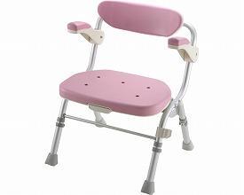リッチェル 折りたたみシャワーチェア R型 肘掛付 / 48061 ピンク【smtb-s】