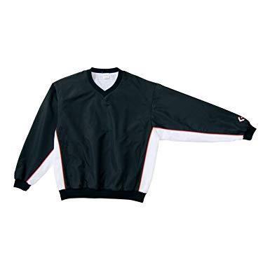 コンバース 8F_Vネックウォームアップジャケット (CB182113S) [色 : ブラック/ホワイト] [サイズ : SS]【smtb-s】