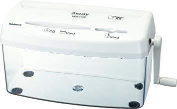 送料無料 ナカバヤシ HESH02W 3Wayクロスカットハンドシュレッダー A4サイズ ついに再販開始 カードカット対応 DVD CD 高額売筋 ホワイト HES-H02W