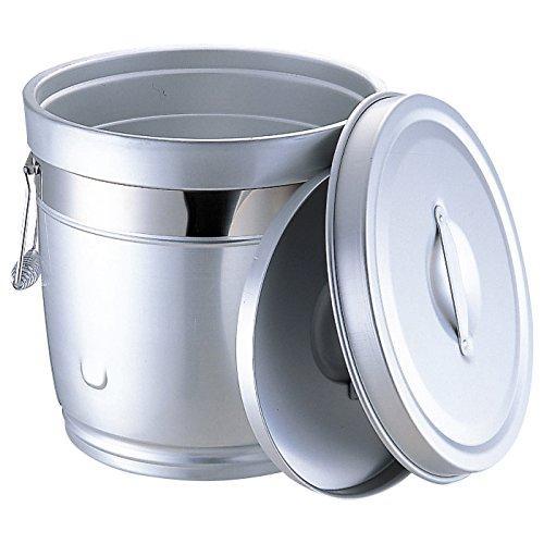 エムテートリマツ 232 シルバーアルマイト 丸型二重中蓋式食缶10L【smtb-s】