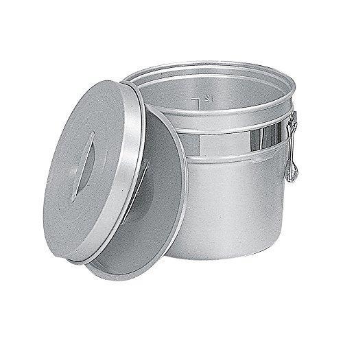 オオイ金属 245-R シルバーアルマイト段付二重食缶 6L【smtb-s】