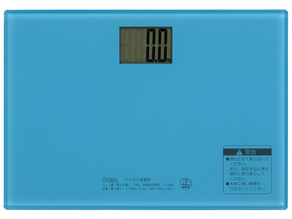送料無料 送料無料でお届けします オーム電機 デジタル体重計 [再販ご予約限定送料無料] ブルー smtb-s