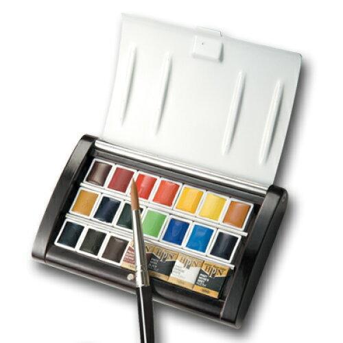 ホルベイン工業 ホルベイン 固形水彩絵具 パンカラー PN695 21色セット(越前漆塗り製) 2695 (1240105)【smtb-s】