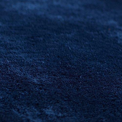 トシシミズ EXマイクロファイバー洗えるラグマット MS-300 (200×200cm) 【460942W7】 サイズ:200×200cm 色:インディゴ【smtb-s】