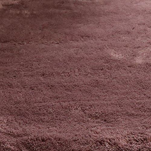 トシシミズ EXマイクロファイバー洗えるラグマット MS-300 (200×200cm) 【460942Y9】 サイズ:200×200cm 色:モーブ【smtb-s】