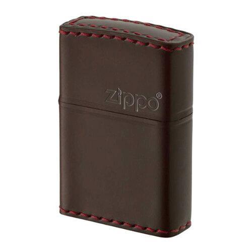 ZIPPO(ジッポー) オイルライター CC-5革巻き 横ロゴ コードバン チョコ (1096469)【smtb-s】