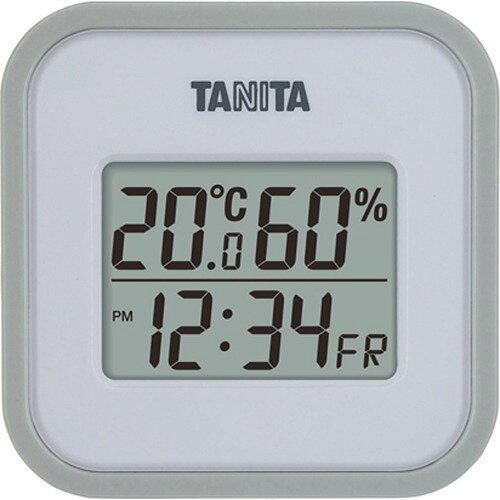 タニタ デジタル温湿度計TT-558-GY【入数:24】【smtb-s】