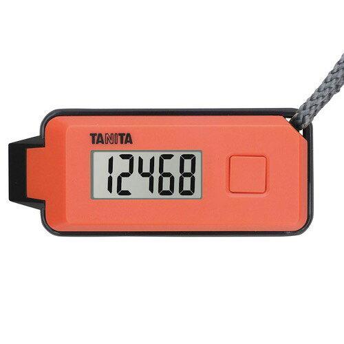 タニタ 3Dセンサー搭載歩数計 歩イッスルFB-739-OR【入数:24】【smtb-s】