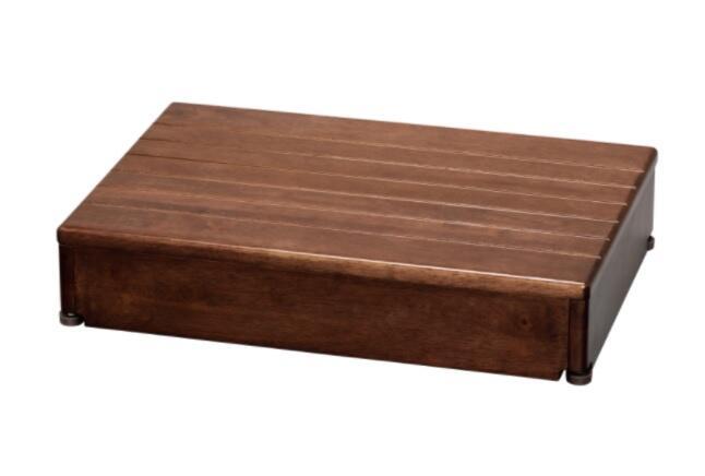 アロン化成 木製玄関台 1段タイプ 60W-40-1段 / 535-580 ブラウン【smtb-s】