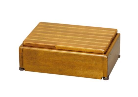 アロン化成 木製玄関台 高さ調節タイプ S45W-30-1段 / 535-572 ライトブラウン【smtb-s】