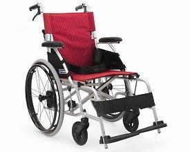 カワムラサイクル 軽量ベーシックモジュールアルミ車いす 自走用 BML20-40SB / 赤ストライプ【smtb-s】