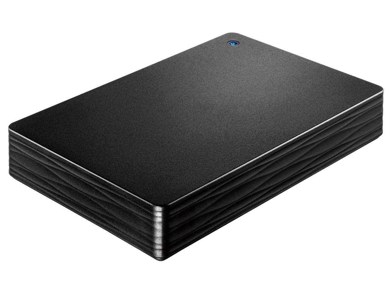 アイ・オー・データ機器 USB 3.1 Gen 1/2.0 ポータブルHDD「カクうす Lite」ブラック 4TB(HDPH-UT4DKR)【smtb-s】