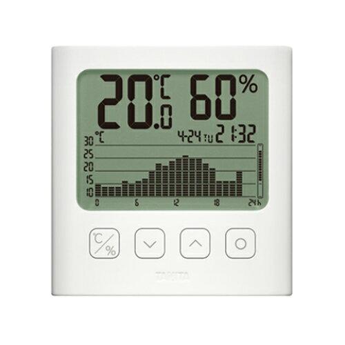 タニタ グラフ付きデジタル温湿度計TT-581-WH【入数:12】【smtb-s】