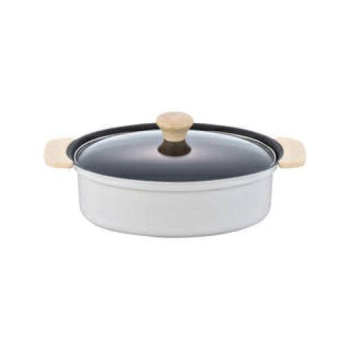 白いパン IH対応オーバル鍋18×24cmMA-9376【入数:12】【smtb-s】