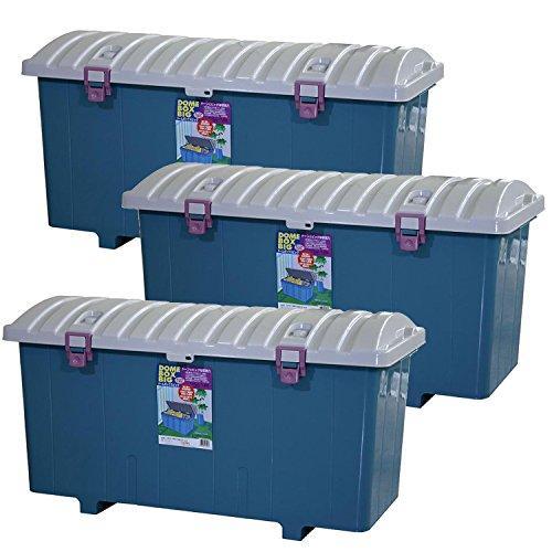 平和工業 収納ボックス ドームボックス ビッグ 日本製 ブルー 160L(3コ組)【smtb-s】