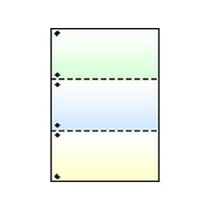 トヨシコー A4グラデーション NC-LBP用紙 #60 3分割/ミシン目・穴 500枚入り (サイズ:A4 数量:500枚/1ケース)【smtb-s】