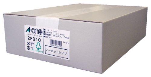 エーワン 28910 インクジェットプリンタ対応 A4ノーカット 1面*500シート(28910)【smtb-s】