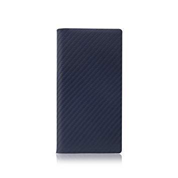 SD8094I7 iPhone 7用 手帳型レザーケース Carbon Leather Case ネイビー SLG Design SD8094i7【smtb-s】