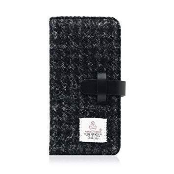 SD8117I7 iPhone 7用 手帳型 Harris Tweed Diary ブラック SLG Design SD8117i7【smtb-s】