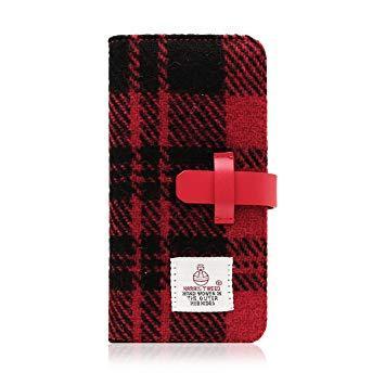 SD8121I7 iPhone 7用 手帳型 Harris Tweed Diary レッド×ブラック SLG Design SD8121i7【smtb-s】