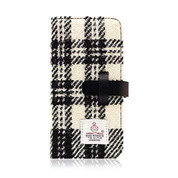 SD8122I7 iPhone 7用 手帳型 Harris Tweed Diary ホワイト×ブラック SLG Design SD8122i7【smtb-s】