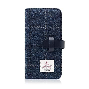 SD8123I7 iPhone 7用 手帳型 Harris Tweed Diary ネイビー SLG Design SD8123i7【smtb-s】