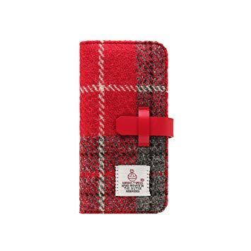 SD8152I7P iPhone 7 Plus用 手帳型 Harris Tweed Diary レッド×グレー SLG Design SD8152i7P【smtb-s】