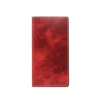 SLG Design SD10521I8 iPhone X用 手帳型 Badalassi Wax case レッド SD10521I8【smtb-s】