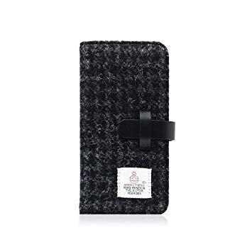 SLG Design SD10553I8 iPhone X用 手帳型 Harris Tweed Diary ブラック SD10553I8【smtb-s】