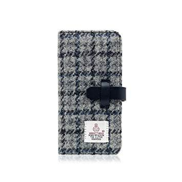 SLG Design SD10556I8 iPhone X用 手帳型 Harris Tweed Diary グレー×ネイビー SD10556I8【smtb-s】