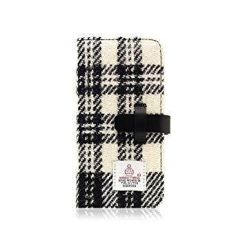 SLG Design SD10558I8 iPhone X用 手帳型 Harris Tweed Diary ホワイト×ブラック SD10558I8【smtb-s】