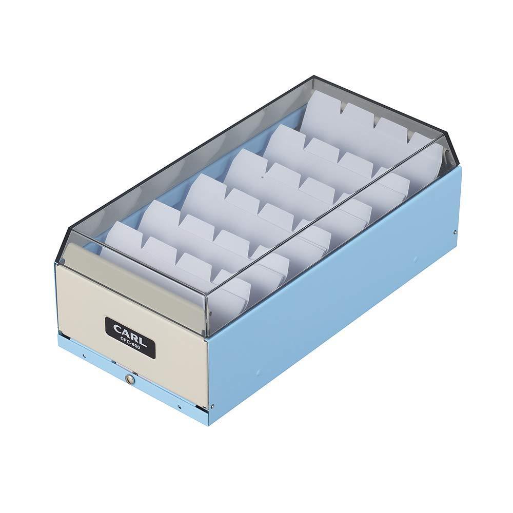 送料無料 特売 国内在庫 カール カードファイルケース 中 ライトブ CFC-600-T