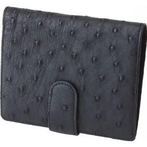 ejapan オーストリッチ 財布 ブラック  S-NO8300041BK【smtb-s】