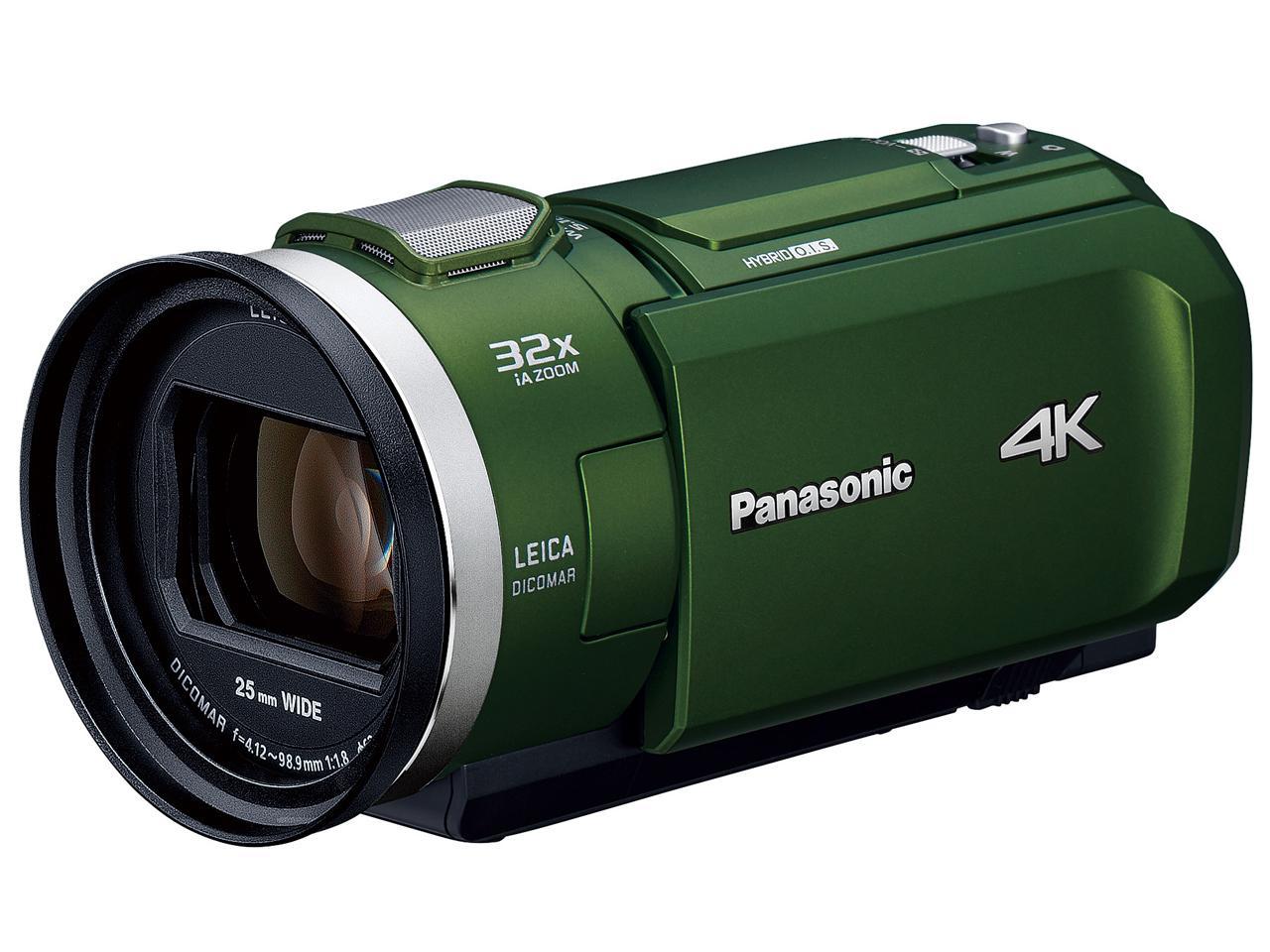 パナソニック(Panasonic) パナソニック HC-VX2M-G デジタル4Kビデオカメラ 64GB内蔵メモリー フォレストカーキ(HC-VX2M)【smtb-s】