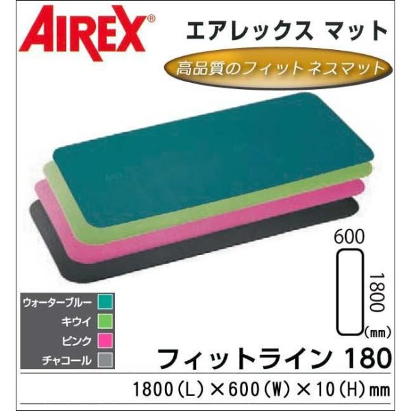 コモライフ AIREX(R) エアレックス マット フィットネスマット(波形パターン) FITLINE180 フィットライン180 AML-480 K・キウイ (1066372)【smtb-s】