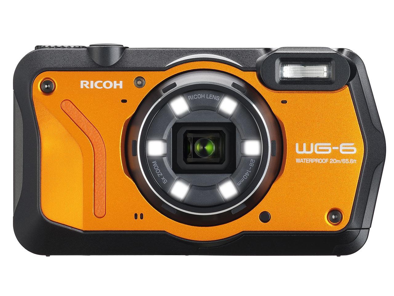 リコー 防水デジタルカメラ WG-6 (オレンジ) WG-6OR(WG-6OR)【smtb-s】
