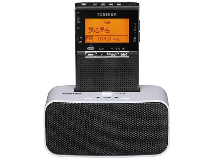 東芝(TOSHIBA) 東芝 TY-SPR8(KM) ワイドFM対応 FM/AM 携帯ラジオ ブラック(TY-SPR8KM)【smtb-s】